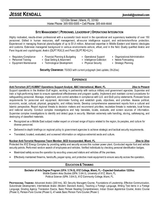 military resume template resume format download pdf