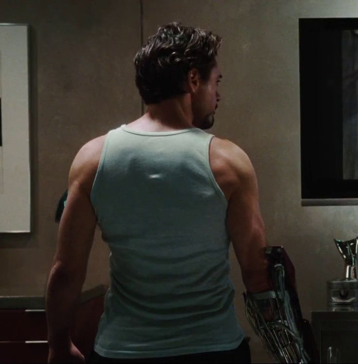 """Those shoulder and back muscles do something to me... (Robert Downey Jr in """"Iron Man"""")"""