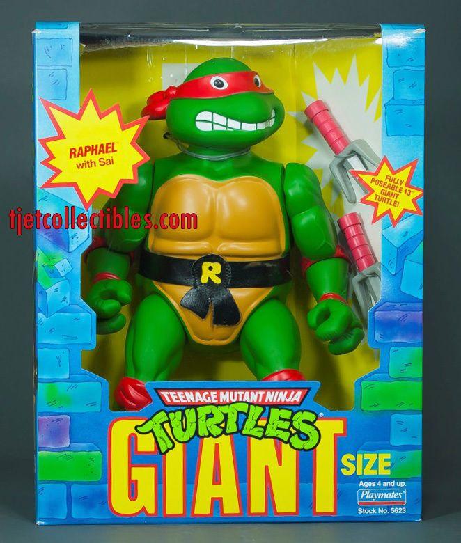 """Teenage Mutant Ninja Turtles Giant Size 13"""" Raphael Action Figure 1989 Opened #TeenageMutantNinjaTurtles"""