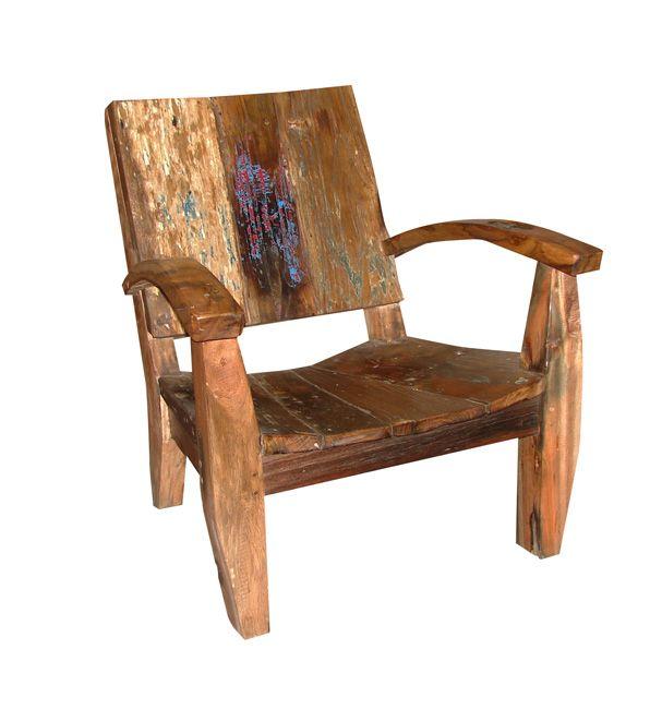 Fauteuil en bois de récupération meubles traditionnel contemporain canapés déco et textile