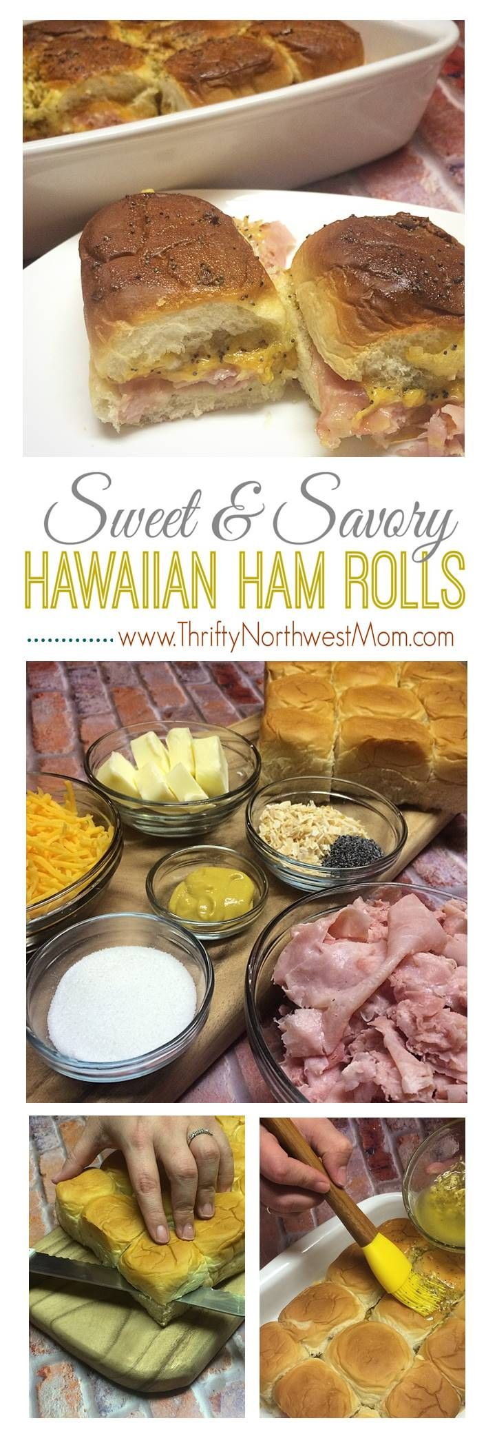 Hawaiian Sweet Ham and Cheese Rolls / Sandwiches Recipe! So easy, yet packed for of taste- Thrifty NW Mom