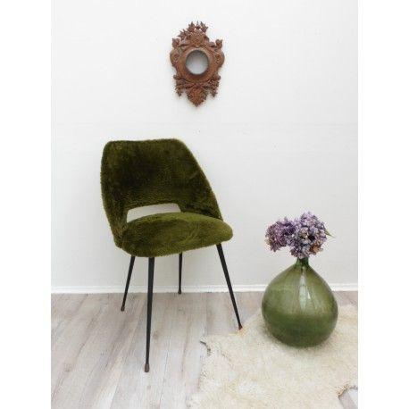 Chaise tonneau esprit Guariche #chaise #tonneau #esprit #guariche #vintage #home #interior #design #collectorchic
