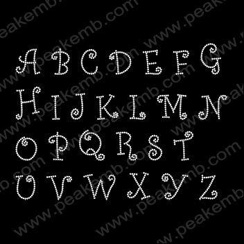 iron on letters alphabet curlz mt font rhinestone transfers rhinestone transfers wholesalecustom rhinestone