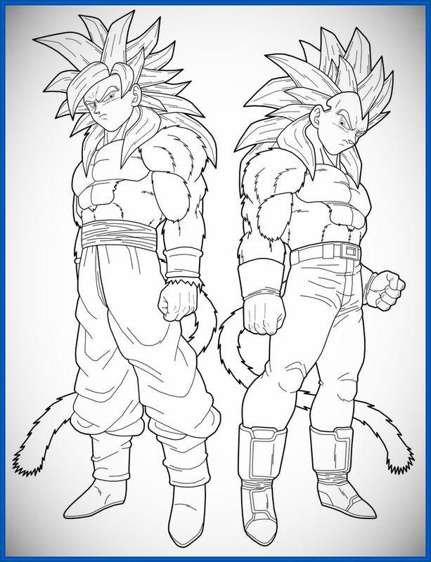 Pin De Aaron Carreon En Ssj4 Goku Y Vegeta Imagenes De Goku Y Goku