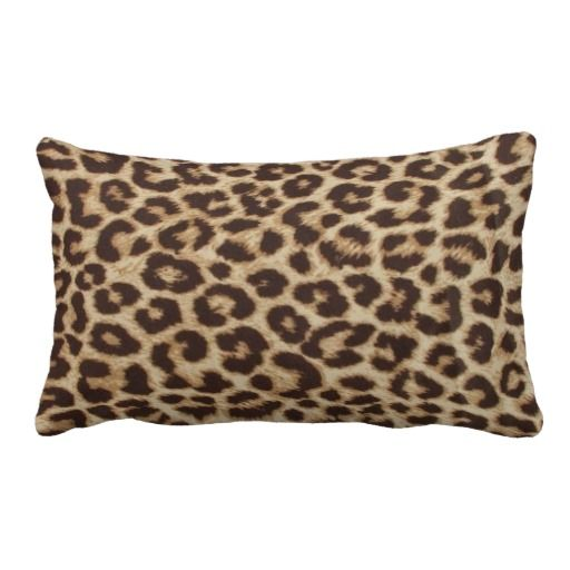 Leopard Print Lumbar Pillows