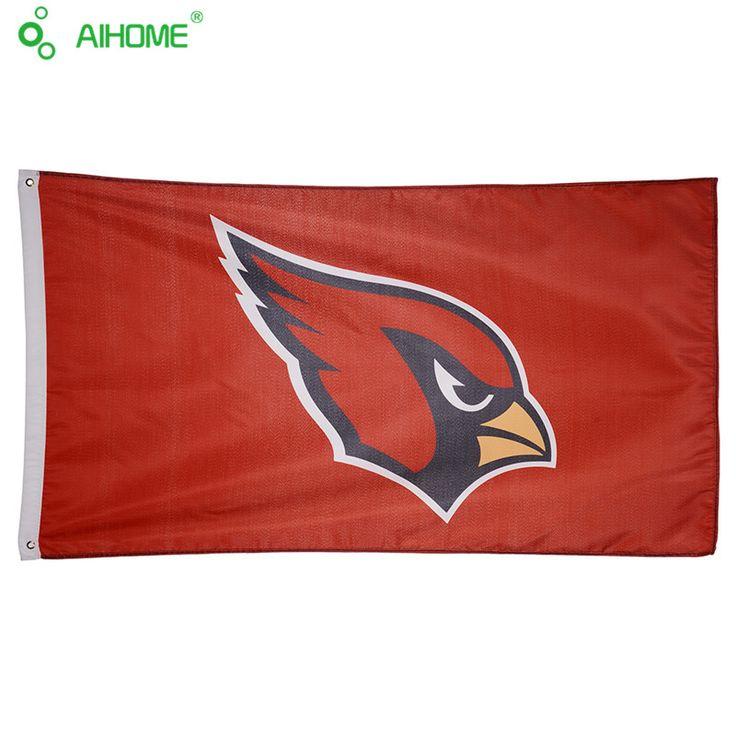3X5FT USA Arizona Cardinals Football Team Flag Banner Sports Organization Banners Polyester American NFL Sports Flag 150*90cm
