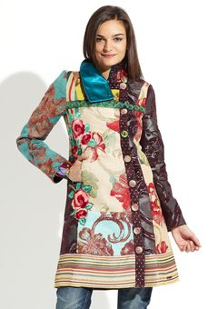DESIGUAL Multi Luciole Coat LOVE