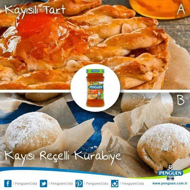Penguen Kayısı Reçelli lezzetlerden hangisini seçerdiniz?Kayısılı Tart mı yoksaKayısı Reçelli Kurabiye mi?