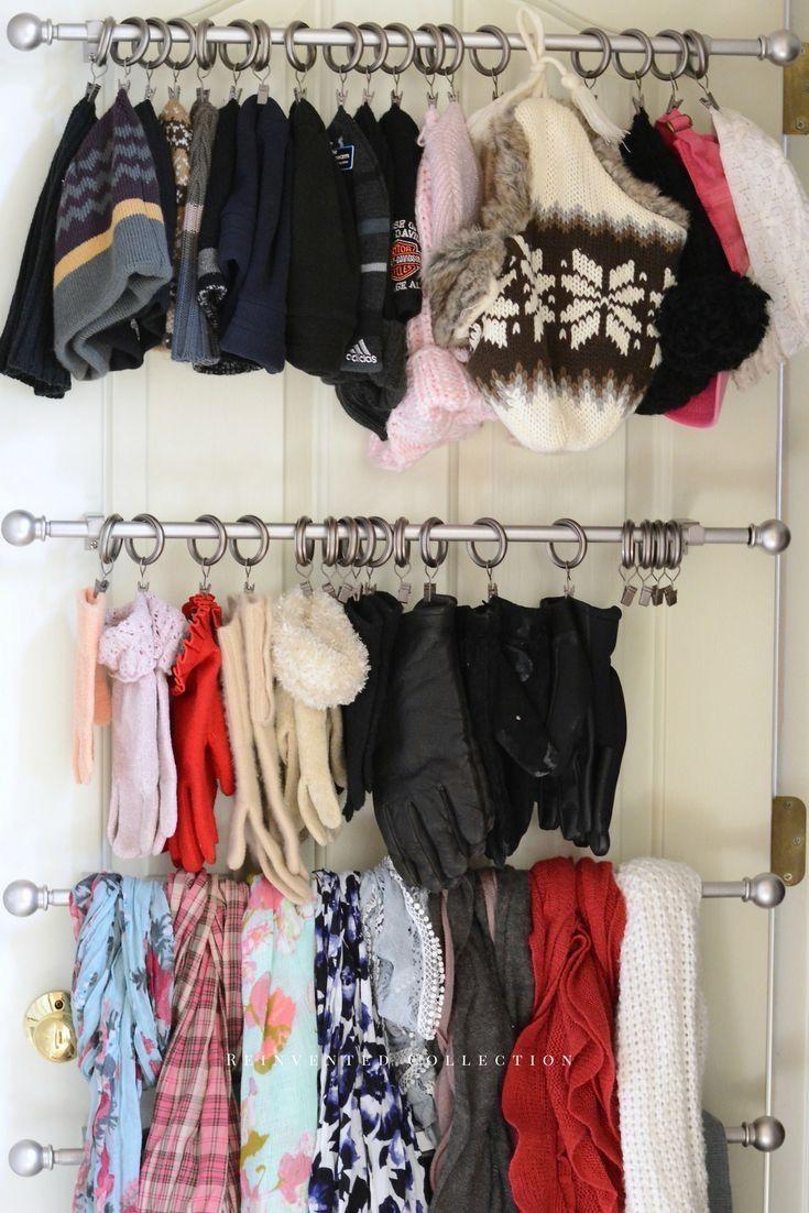 Pin By Ellie Wilson On Interior Design Coat Closet Scarf Storage Clothes Closet Organization