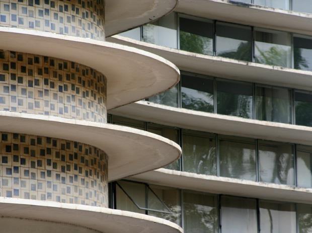 athos bulcão revestimento do edifico Niemeyer, BH - Niemeyer