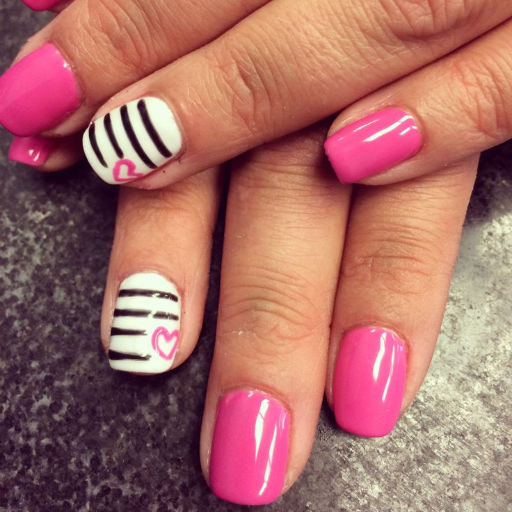 Gel Manicure design. #NailsByEm