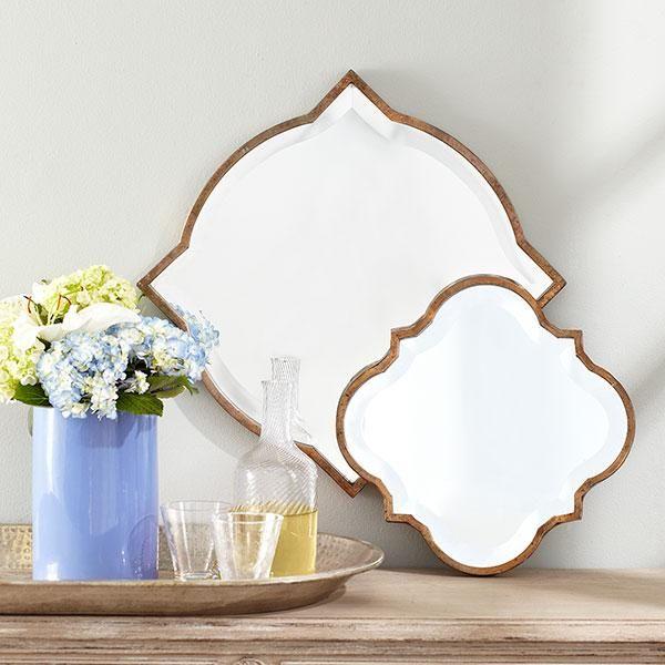 Mirror wall decor for bedroom : Arabesque mirror wisteria and wall decor