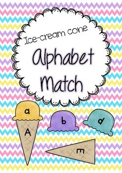 Alphabet Match - Upper and lower case letter recognition game for early years. Little Learners