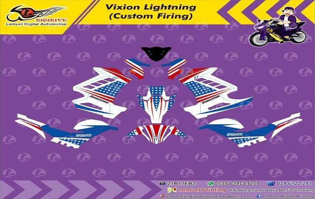 Striping Motor Yamaha Vixion   Barometer Sticker Digital, Apparel Digital, dan Produk Kreatif Berbasis Digital Printing
