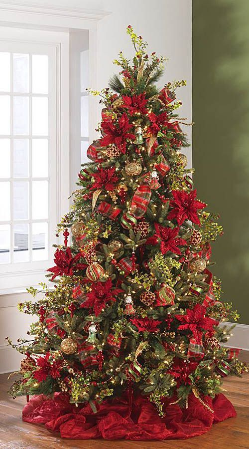 Unique Christmas Tree Decorations Ideas On Pinterest - Best red christmas decor ideas
