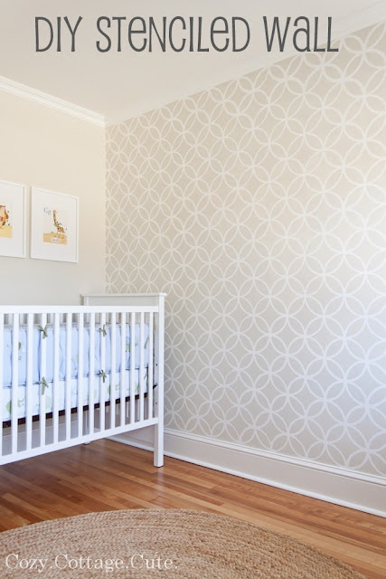 Thinking of doing this in the bathroom. Endless Circle Stencil from Royal Design Studio.: Wall Stencil, Nursery Ideas, Baby, Diy Stenciled Walls, Design Studios, Diy Projects, Royal Design, Room