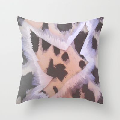ThePeaceBombs - Soft Animal  Throw Pillow by ThePeaceBombs - $20.00 #pillows #art #artwork #shopping #home #decor  http://society6.com/ThePeaceBombs www.miaaw.com https://www.facebook.com/marishags