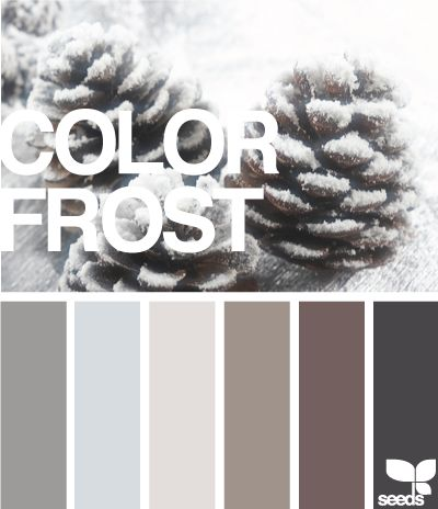 Frost - Just love these colors, in clothes and home. Neutral and classy