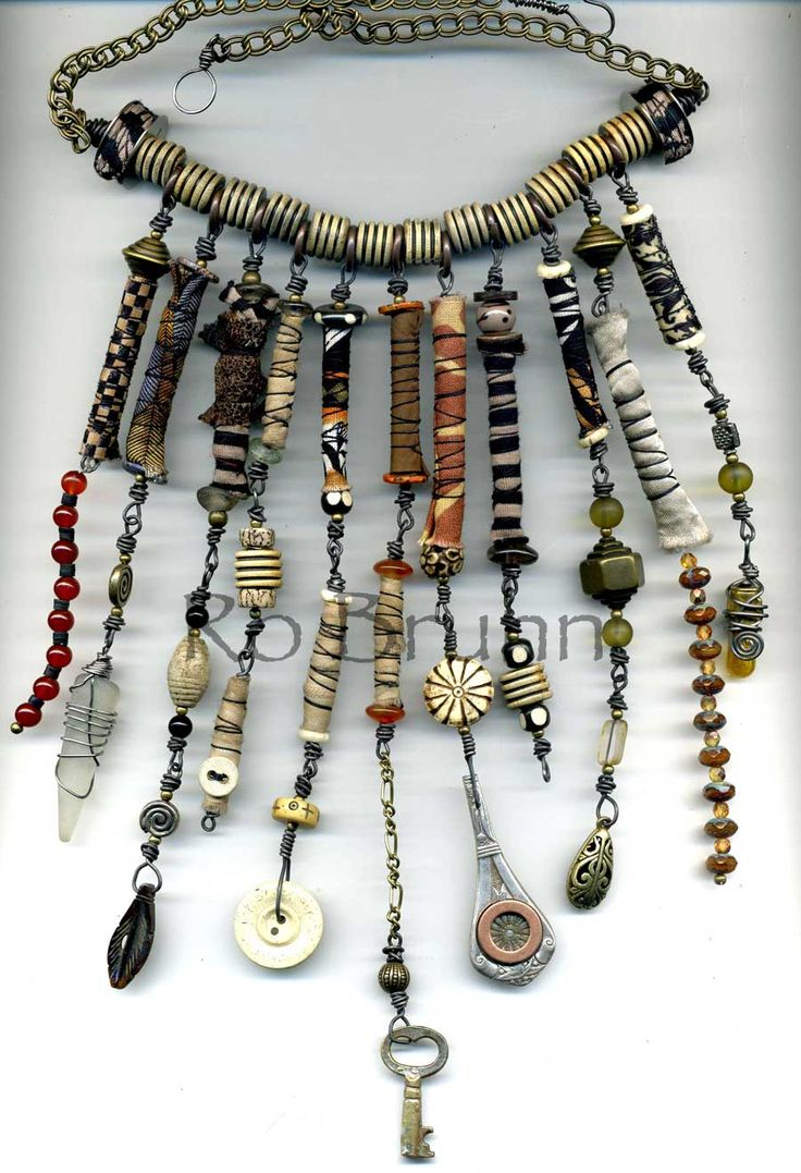 Ro Bruhn - I used lots of my hand made fabric beads in this one