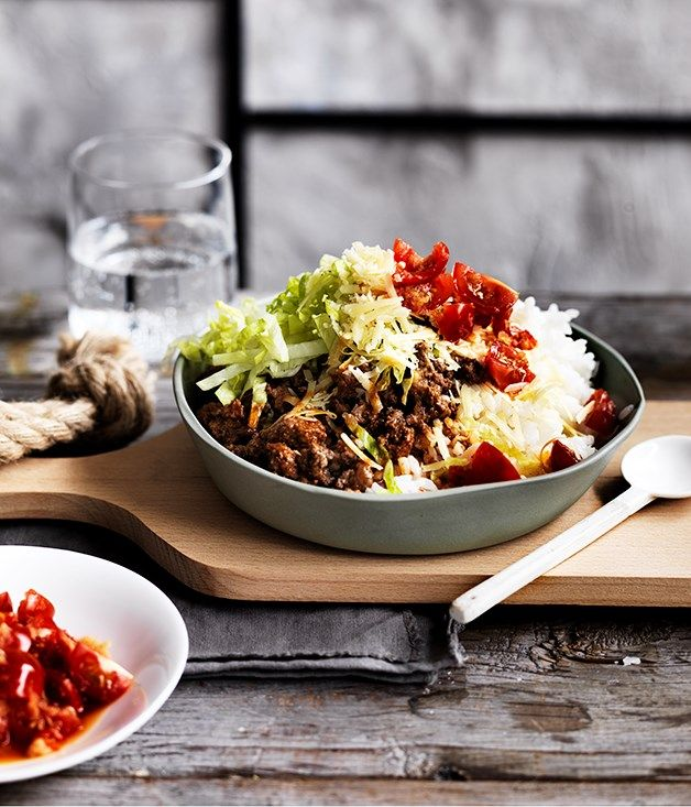 Beef taco rice is an Okinawan specialty that is an example of how fusion is by no means a dirty word.