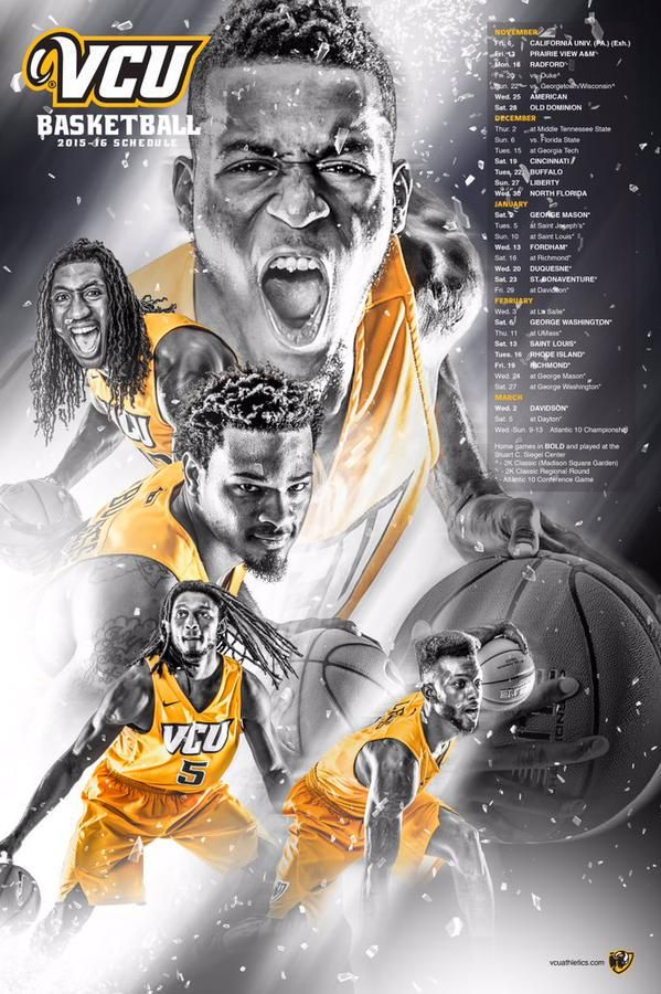 The new @VCUathletics @VCU_Hoops poster is out & is one of the best we've seen!
