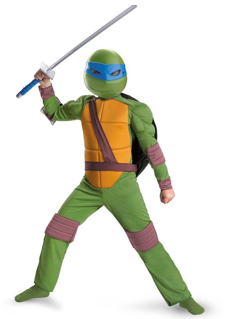 Teenage Mutant Ninja Turtles Leonardo Animated Classic Muscle Child Costume