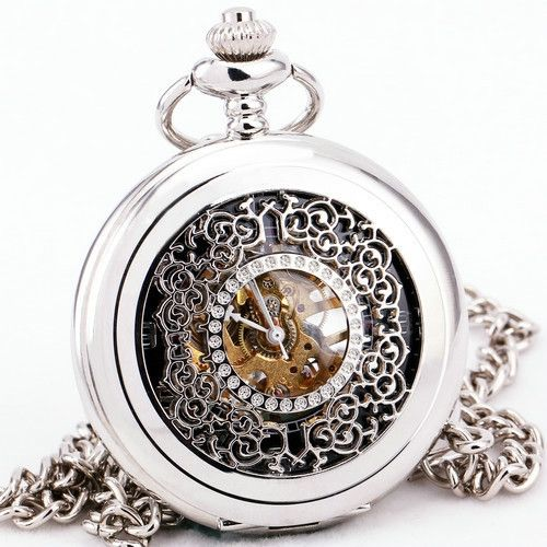 12.99$  Watch here - http://alija0.shopchina.info/go.php?t=32427894565 - Retro Antique Stainless-steel Unisex Mechanical Pocket Watch Embossed Case Victoria Style Souvenirs Chain Clock Pendant  #aliexpressideas