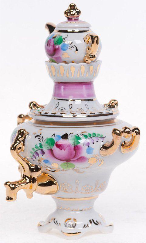Russian Porcelain Samovar.