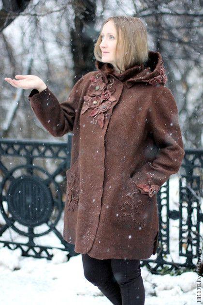 """Верхняя одежда ручной работы. Ярмарка Мастеров - ручная работа Зимнее полупальто """"Прага"""". Handmade."""