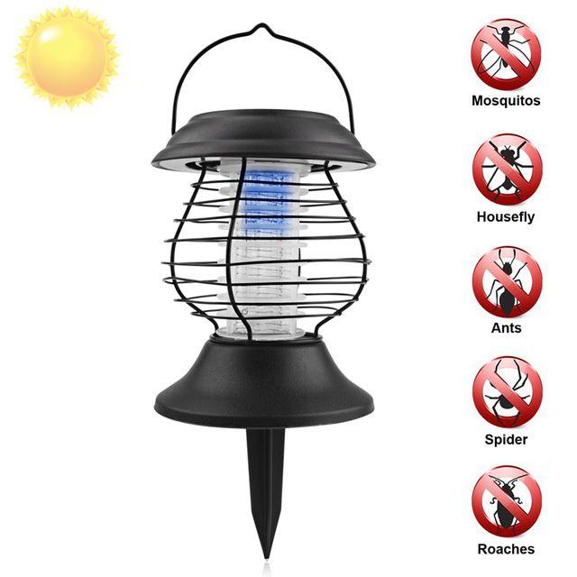 Energía Solar Matar Mosquitos Eléctrico Lámpara Del Asesino Del Mosquito repelente de Insectos Repelente de Control de Plagas Polilla Avispa Matamoscas Asesino de Mosquitos Eléctrico