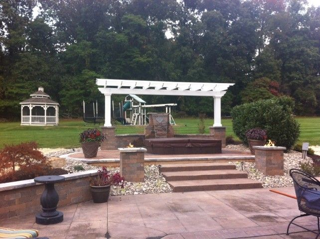 Create your own beautiful backyard with cambridge pavers for Design your own pergola