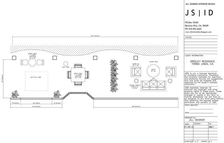 Perfect Yorba Linda, CA Online Design Project, Outdoor Patio Furniture Floor Plan  Layout, Option 1, CAD By Sheena Murphy For JSID. Www.JSInteriorDes.Blogspu2026