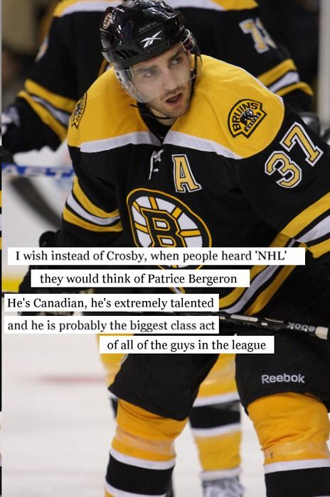 Patrice Bergeron. Broken rib. Torn cartilage. Separated shoulder. Still played. He is the toughest person and I fucking love him.