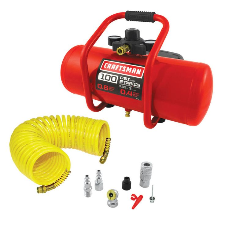 Craftsman 3 Gal. Oil Free Air Compressor with 7 piece kit is perfect for all inflation projects.