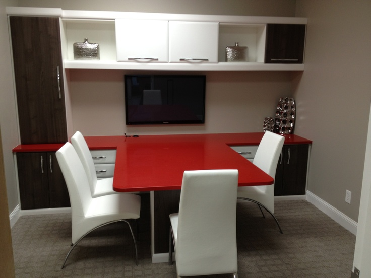 Great Modern Office By CF Ft Lauderdale Love The Combination Of Red Black And