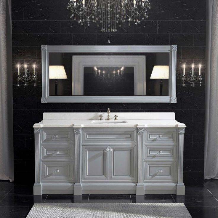 Chic Gray Bathroom Design