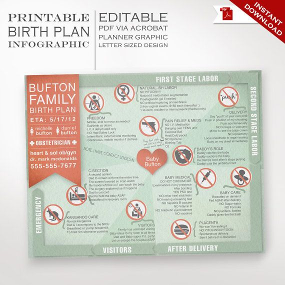 Best 25+ Birth plan printable ideas that you will like on ...