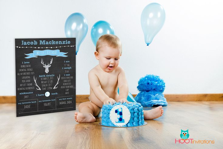 Cake Smash Sign - First Birthday Chalkboard Sign, Boys Chalkboard First birthday sign, 1st Birthday Sign Blackboard one year old, Photo Prop by HOOTinvitations on Etsy