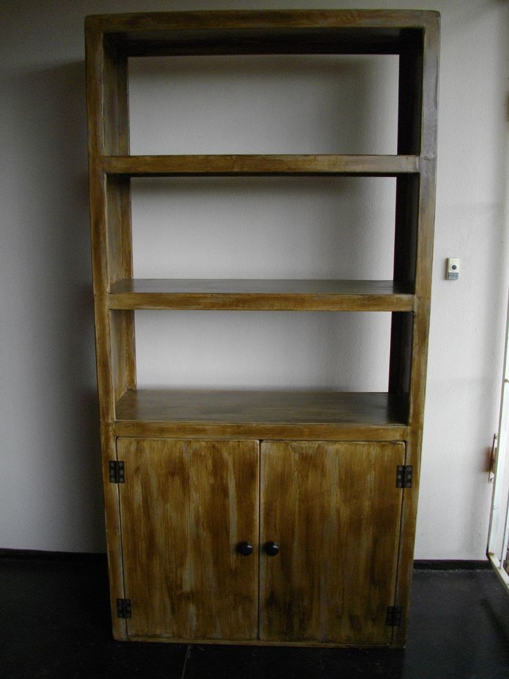 (RS 158) Bookrack / Display Unit / Room Divider Dimensions L1000 x W350 x H2000 mm. Price R3 500 Each Exclusive, strong, and unique rustic multi-purpose handmade wooden furniture!! E-mail humanr@telkomsa.net for a current exclusive pricelist with photos and measurements.
