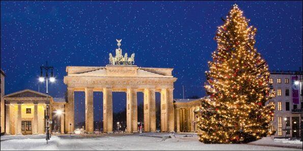 Weihnachtskarten 2016 für Firmen - Winterlandschaften  - Artikel 11274 - Brandenburger Tor im Advent