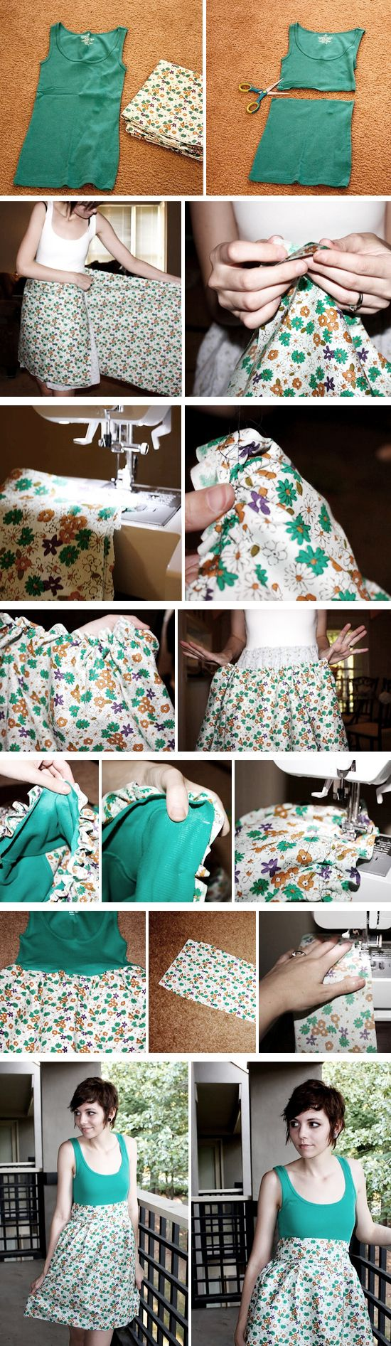 cute dress for $6...find more http://papernstitchblog.com/2011/08/16/how-to-make-an-insanely-cute-dress-on-a-shoestring-budget-tutorial/