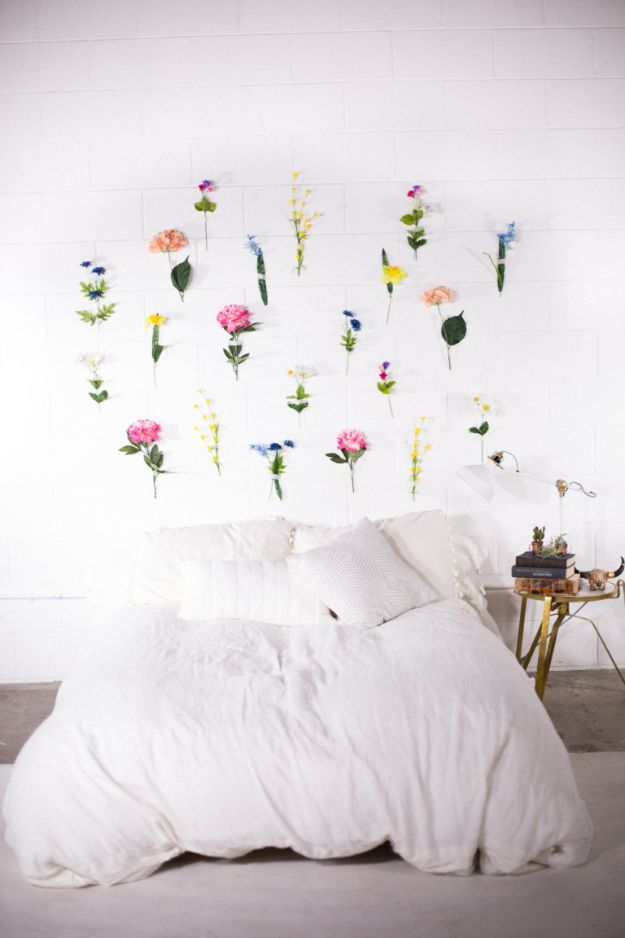 Incredible 38 Diy Ideas For Faux Flowers Diy Bedroom Creative Wall Home Remodeling Inspirations Cosmcuboardxyz