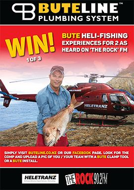 Buteline Heli-Fishing Competition -- see www.buteline.co.nz or the Buteline NZ Facebook page for details!