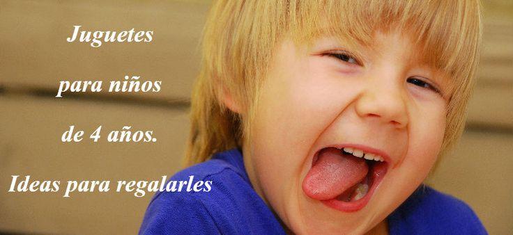Ideas de regalos para niños a partir de 4 años #juguetes #ideaspararegalar #4años http://www.babycaprichos.com/blog/regalos-ninos-4-anos/