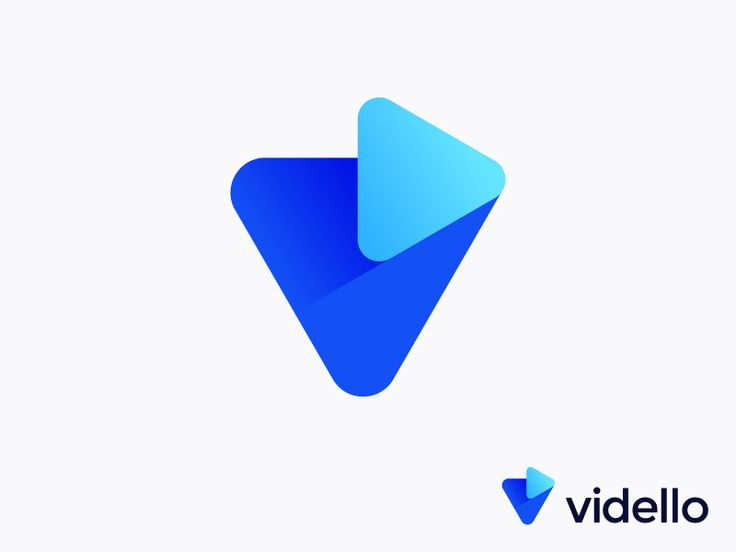 V + Play logo concept for video marketing app (wip) by Vadim Carazan