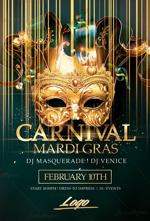 Creative Mardi Gras Flyer Psd Templates Perfect To Promote Your Carnival Party Enjoy Ing The Premium Photo By