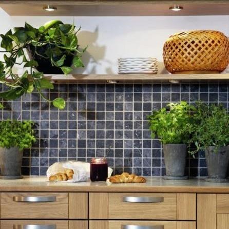 Mosaikkfliser på kjøkkenet