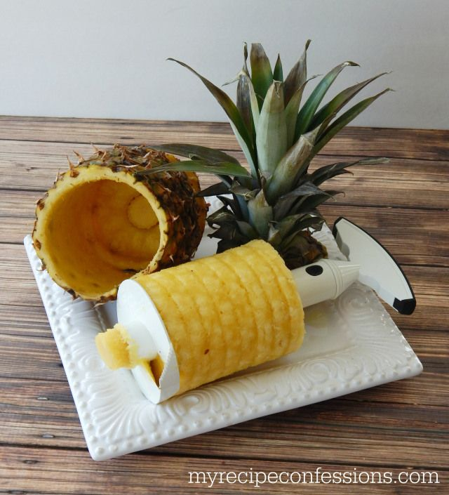 It will core the pineapple and slice it into rings at the same time. You can also serve the freshly cut pineapple in the pineapple shell bec...