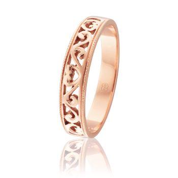 J1101 - Australian Made Ladies #Wedding Rings. Filigree design in Pink #Gold. www.pwbeck.com.au
