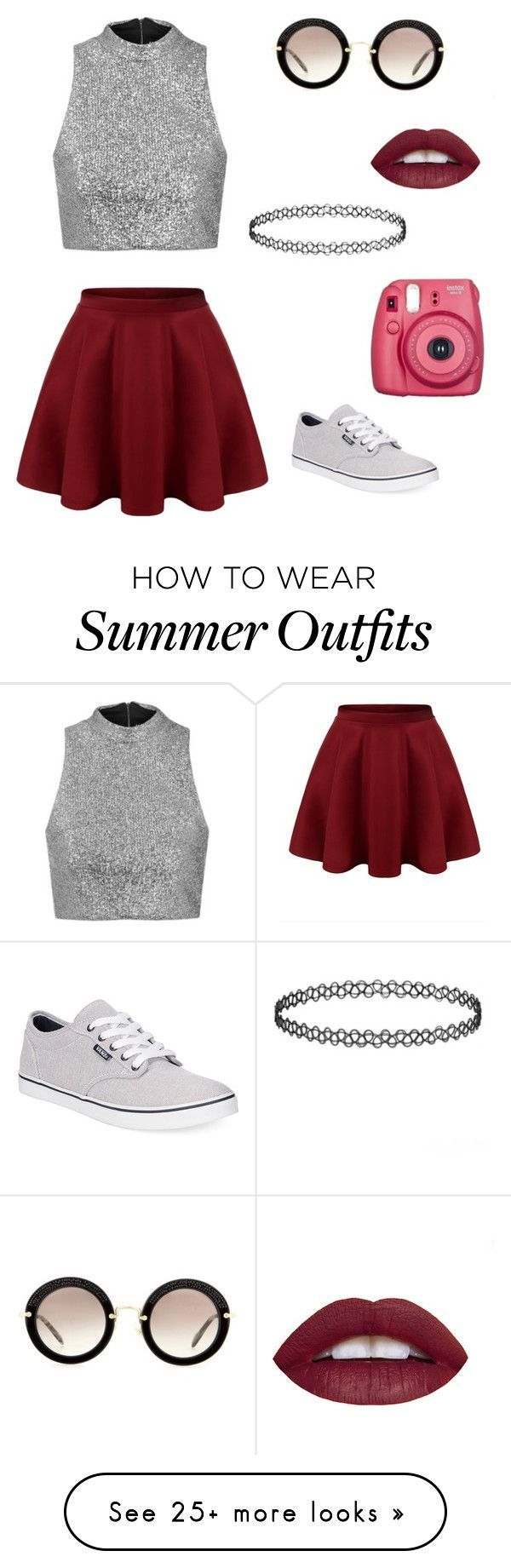 """A perfect outfit for a summer day. ❤"" by setmetrendy on Polyvore featuring Miu Miu, Topshop, Vans, women's clothing, women's fashion, women, female, woman, misses and juniors"
